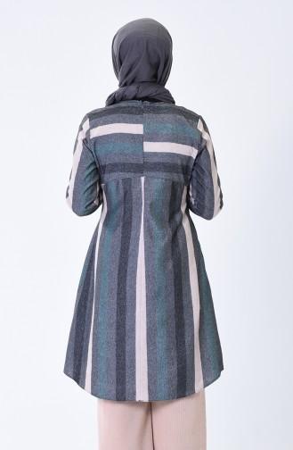 Elastic Sleeve Winter Tunic Smoky Beige 1138A-02