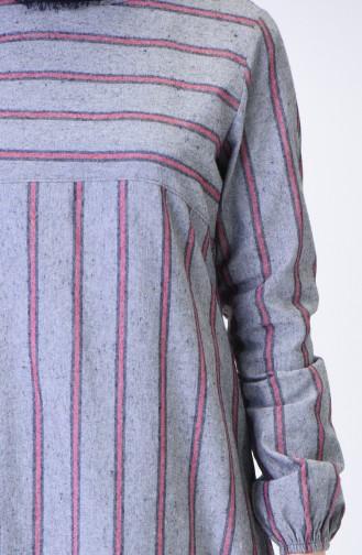 Elastic Sleeve Winter Tunic Gray 1138B-02