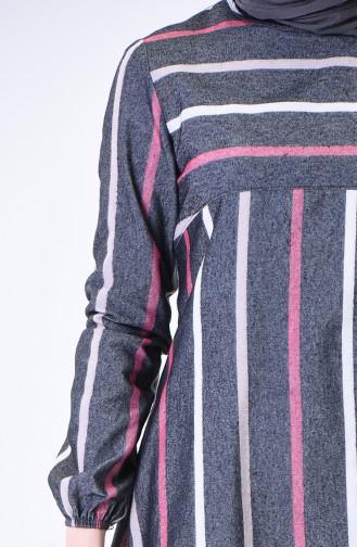 Kolu Lastikli Kışlık Tunik 1138D-01 Füme 1138D-01