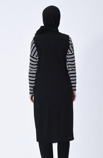 Gilet Sans Manches Noir 1180-01