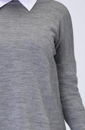 Grau Pullover 0522-04