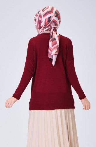 Claret red Sweater 0522-05