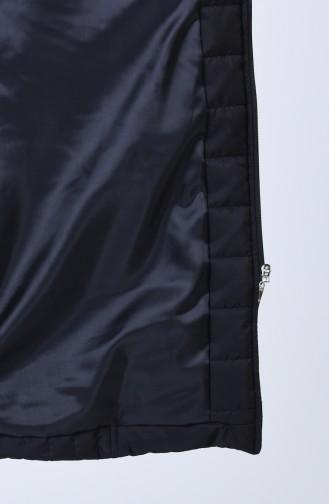 Manteau Matelassé Avec Ceinture 0812-01 Noir 0812-01