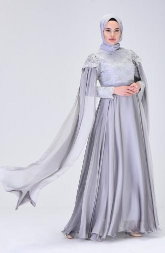 Gray İslamitische Avondjurk 6171-02