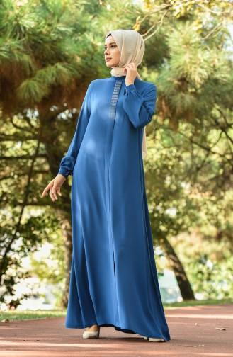 فستان كريب نيلي 8030-07
