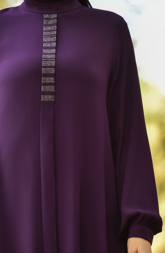 Krepp Kleid 8030-05 Lila 8030-05