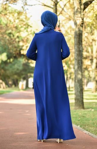 فستان كريب أزرق داكن 8030-06