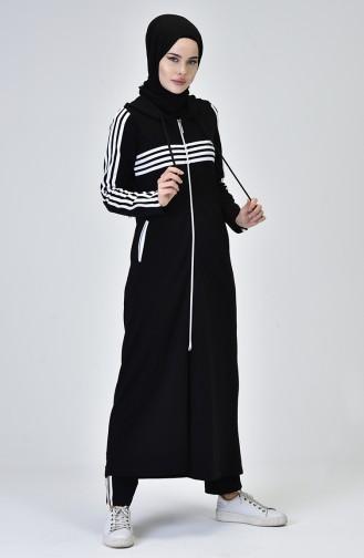 Fermuarlı Eşofman Takım 8392-02 Siyah