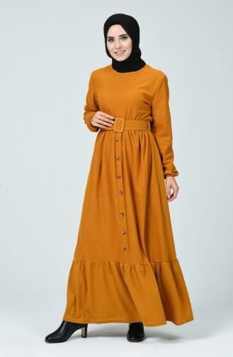 Robe Hijab Moutarde 1214-03