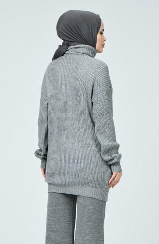 Grau Pullover 1381-05