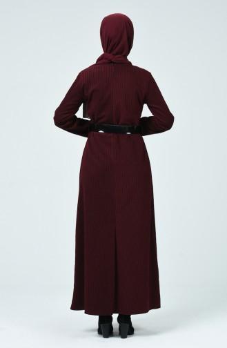 Robe à Rayures Avec Ceinture  81756-05 Plum 81756-05