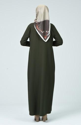 Abaya Plissée 2136-05 Khaki 2136-05