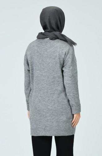 Grau Pullover 7104-01