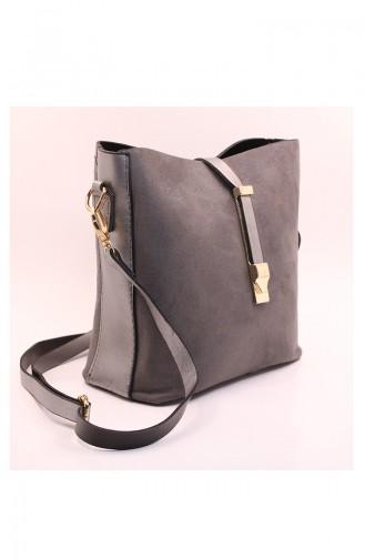 Gray Shoulder Bags 12-08