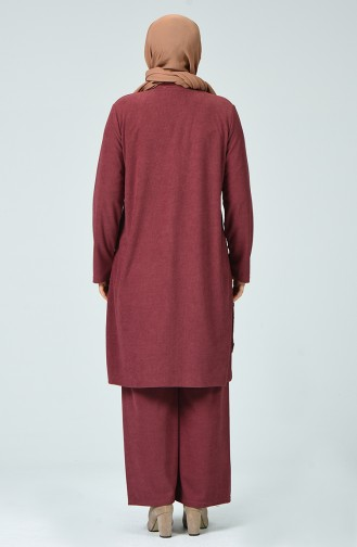 Corded Tunic Pants Double Set Dried rose 7028-06