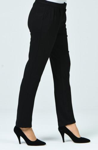 Cepli Pileli Pantolon 3170-01 Siyah