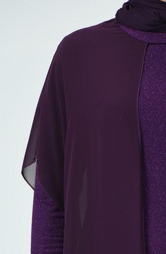 Lila Hijab-Abendkleider 6287-03