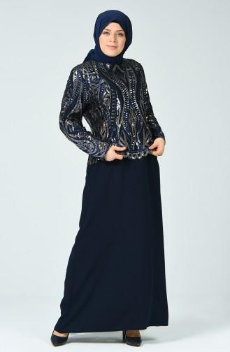 Habillé Hijab Bleu Marine 6292-03