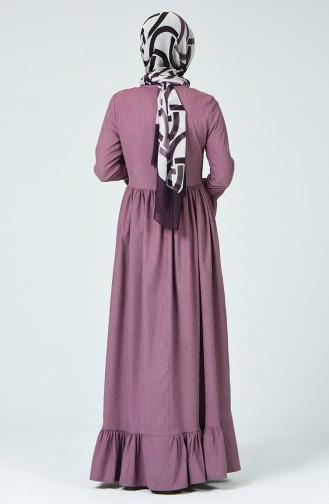 Pleated Velvet Dress Rose Dried 81757-05