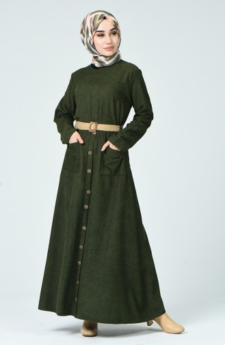Robe a Ceinture 9046-02 Khaki 9046-02