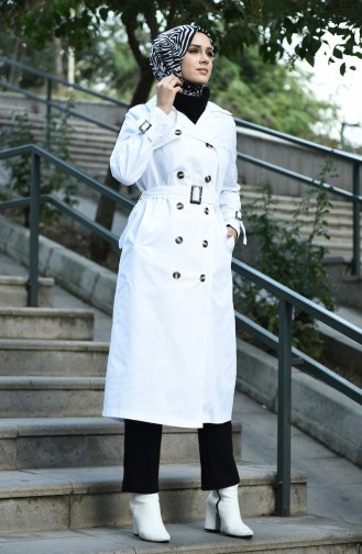 Weiß Trench Coats Models 8097-01
