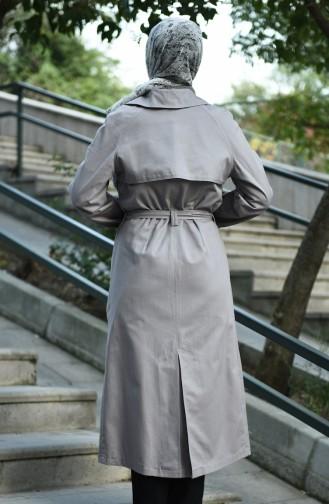 Gray Trench Coats Models 8097-04