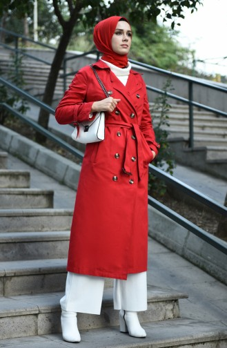 Trench Coat Rouge 8097-06