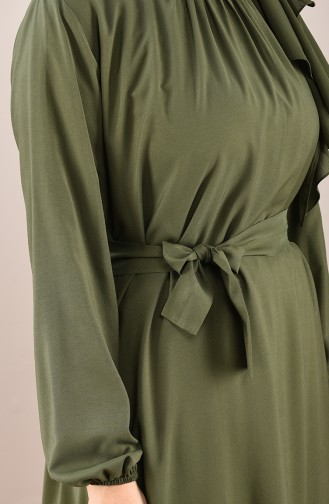 Khaki Hijap Kleider 10143-01