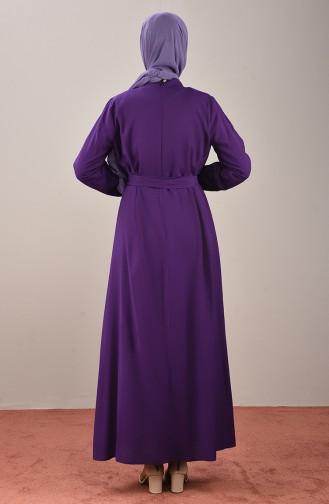 فستان أرجواني 10143-07