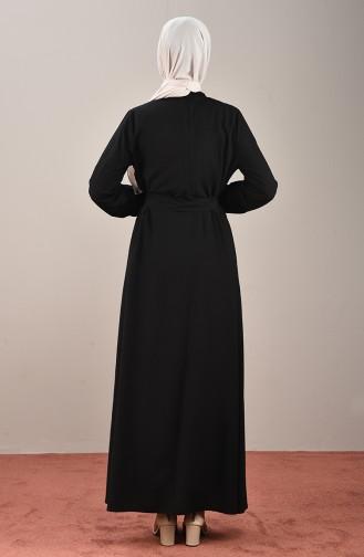 Schwarz Hijap Kleider 10143-0