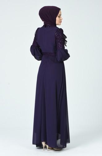 Robe de Soirée à Paillettes  5238-02 Pourpre 5238-02