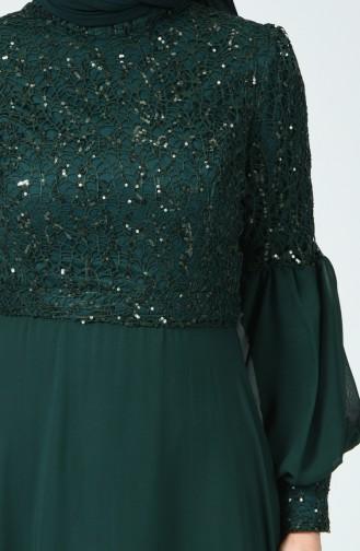 Robe de Soirée à Paillettes 5238-04 Vert émeraude 5238-04