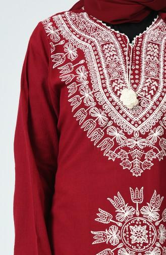 Claret red Tunic 0217-06