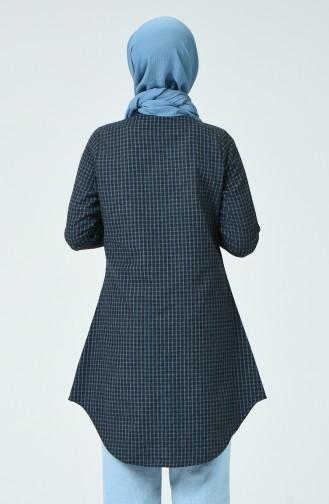 Kareli Tunik 6401-01 Mavi