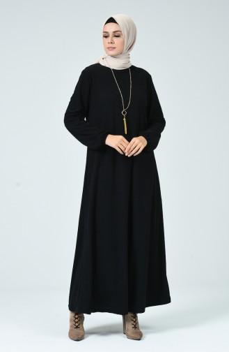 Robe Avec Collier 0024-05 Noir 0024-05
