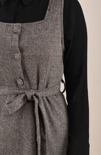 Robe Sans Manches a Motifs 7130-01 Vison 7130-01