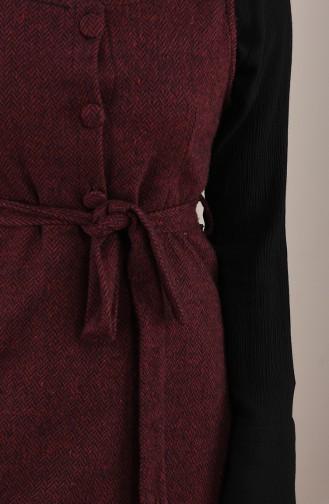 فستان أحمر كلاريت 7130-03