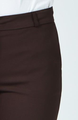Klasik Cep Detaylı Pantolon 1131PNT-04 Kahverengi
