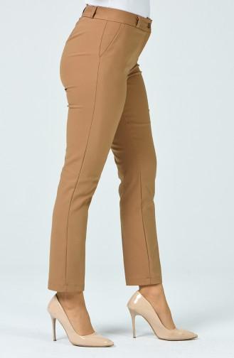 Klasik Cep Detaylı Pantolon 1132-01 Koyu Vizon