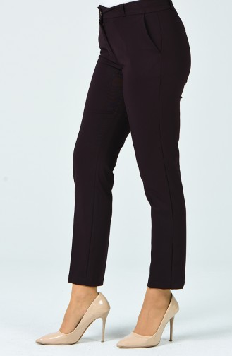 Klasik Cep Detaylı Pantolon 1134PNT-01 Bordo