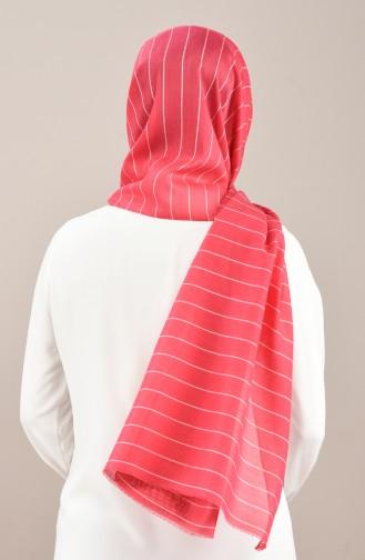 Striped Seasonal Shawl Fuchsia 901566-10