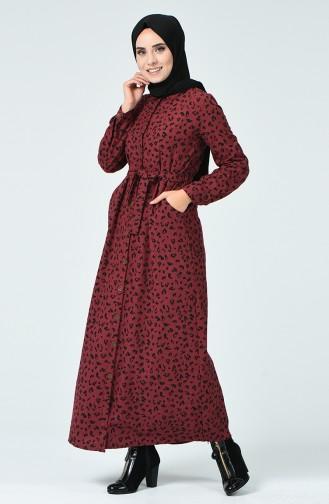 فستان أحمر كلاريت 9002A-02