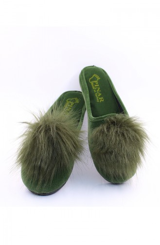 Green Woman home slippers 30-03