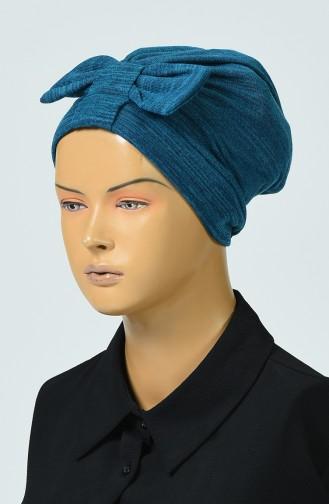 Bonnet Tricot a Noeud 0041-07 Pétrol 0041-07