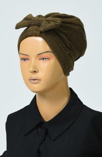 Bonnet Tricot a Noeud 0041-08 Brun 0041-08