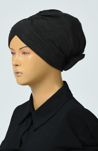 Bonnet Noeud Tricot  0041-09 Anthracite 0041-09