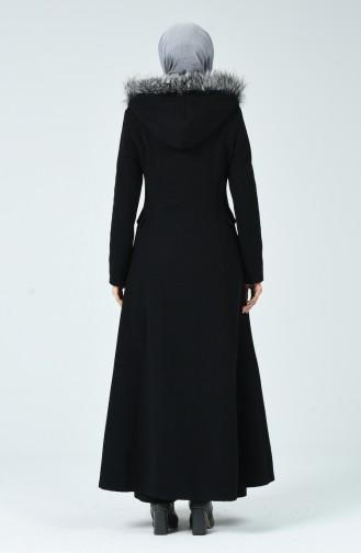 Abaya Brodée 61280-01 Noir 71201-01