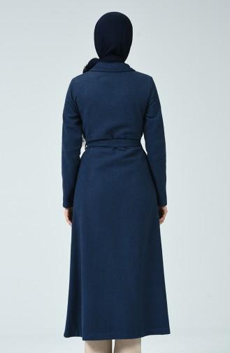 Geknöpftes Abaya aus Fleece 5001-03 Indigo 5001-03