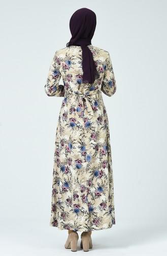 فستان بني مائل للرمادي 1332-01