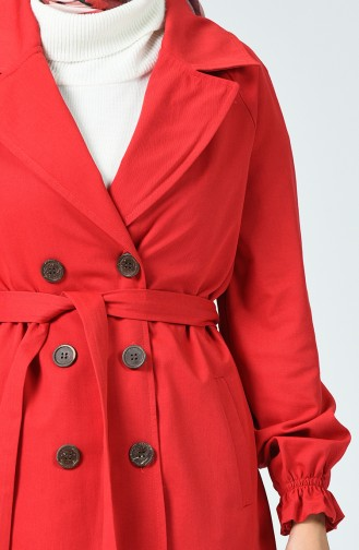 Red Trench Coats Models 1260-11